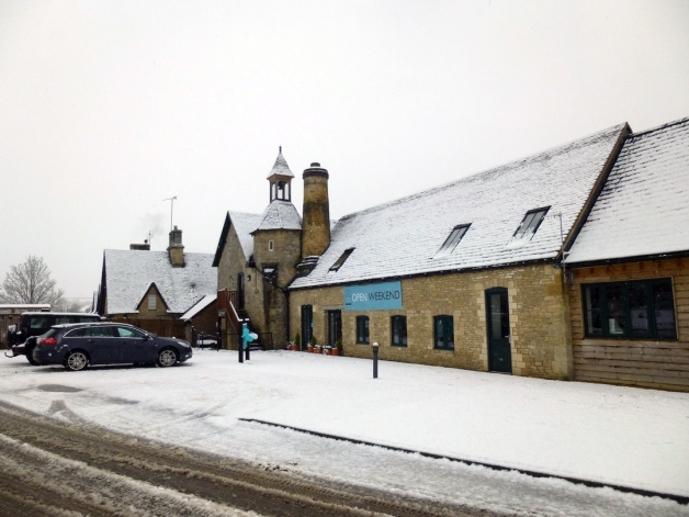 Combe Mill in the snow