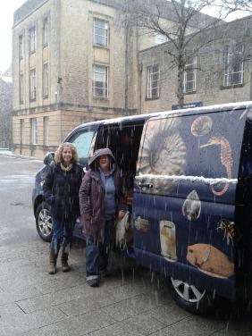 Van in the snow