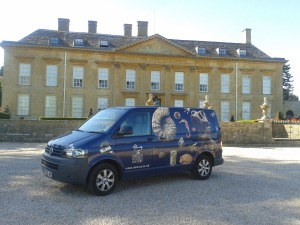 The van at Cornbury Park