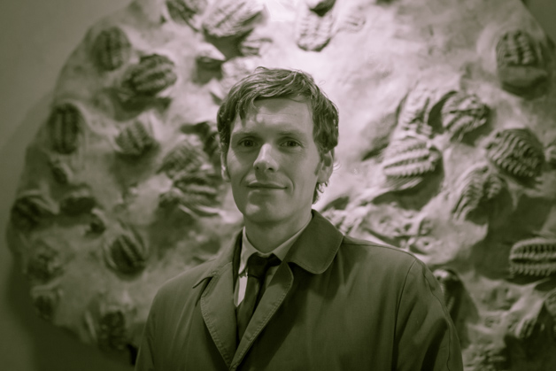 Shaun Evans in the Museum Credit: Scott Billings
